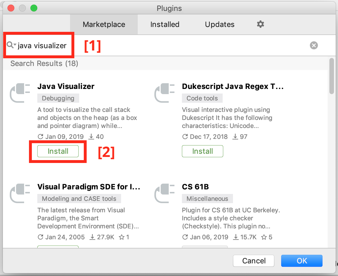 Search Java Visualizer